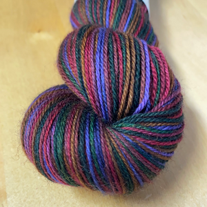 Brilliant Mistake; 6 Color Stripes Self-Striping Yarn
