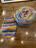 Vintage Easter; 6 Color Stripes Self-Striping Yarn