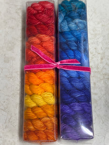 Tropic of Cancer; Minis set on Spencer Single Ply Merino Fingering Weight Yarn