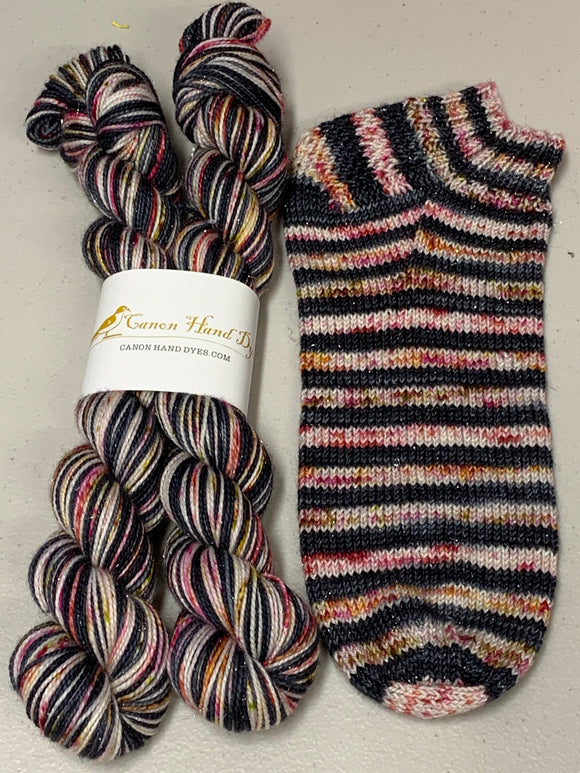 Heartache; 6 Color Stripes Self-Striping Yarn