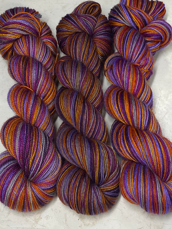 Fancy Witch; 6 Color Stripes Self-Striping Yarn