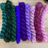 Stripes Kit Bundle; Fingering Weight Yarns and Agatha Silk Mohair Lace Yarn