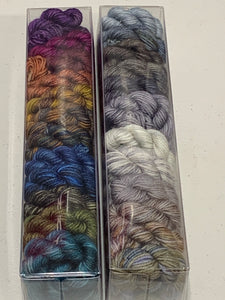 Wandering Diagon Alley, Set One; Minis set on John Merino Fingering Weight Yarn