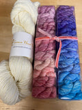 Like Candy Kit: Pastel Explosion Gradient Minis with Contrast; Spencer Single Ply Fingering Weight Yarn