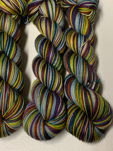 Love's Labour's Lost, Shakespeare Club 6 Color Stripes Self-Striping; Charles Merino SPORT Yarn