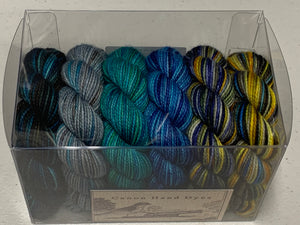 Colors of Happiness 25g minis; Set 3 Charles Merino Fingering