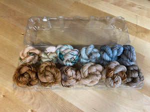 Indie Untangled Everywhere; 12 Speckled Mini Skeins