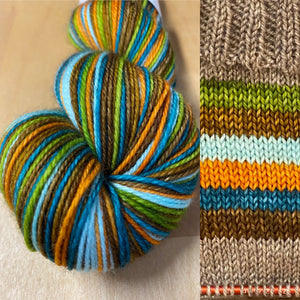 Have I Gone Mad?; 6 Color Stripes Self-Striping Yarn