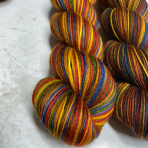 Christmas Carol; 6 Color Stripes Self-Striping Yarn
