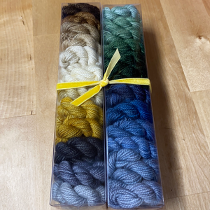 The Lion, the Witch, and the Wardrobe; Minis set on Charles Merino Fingering Weight Yarn