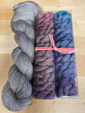 Like Candy Kit: Pastel Explosion Minis with Contrast; Bruce Yak Merino Fingering Weight Yarn