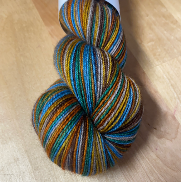 Fly Like an Eagle; 6 Color Stripes Self-Striping Yarn