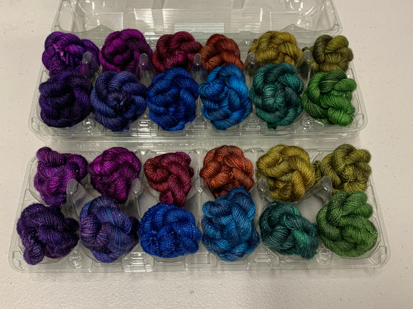 Dragon Eggs Minis Set; Charles Merino Yarn