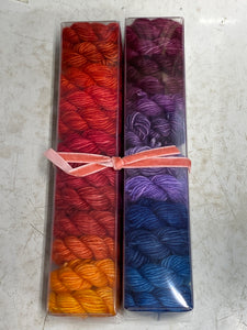 Fireside Chat; Minis set on Spencer Single Ply Merino Fingering Weight Yarn