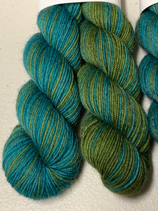 Etude no.18 Polar Opposites; Self-Striping Bruce Yak Merino Fingering Yarn