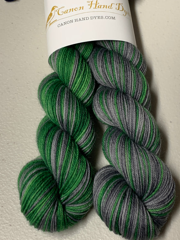 Slytherin Polar Opposites Self-Striping; William Merino Fingering Yarn