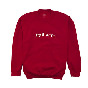BRILLIANCE CREWNECK CHERRY RED