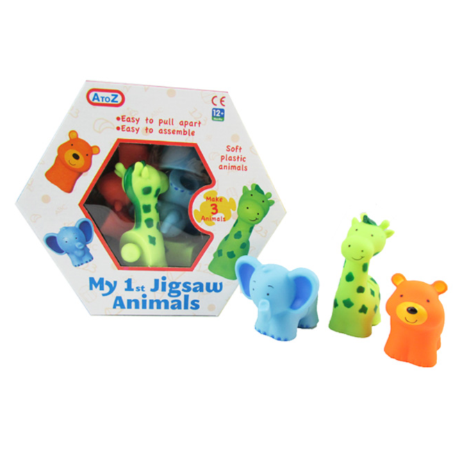 3 Piece Animal Puzzle - Little Fawn Box - Subscription box for mum and baby