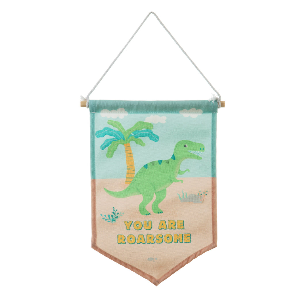 Roarsome Dinosaurs T-Rex Banner Flag - Little Fawn Box