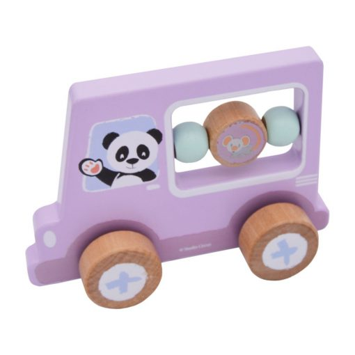 Wooden Activity Car - Lilac Panda | Studio Circus - Little Fawn Box