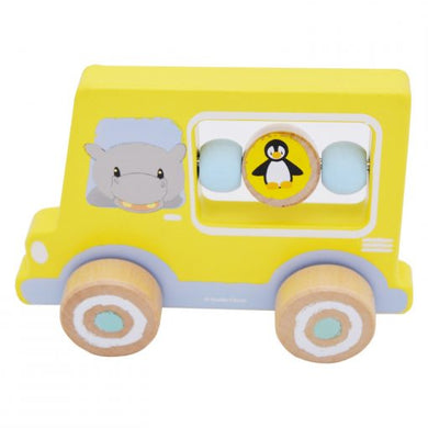 Wooden Activity Car - Yellow Hippo | Studio Circus - Little Fawn Box