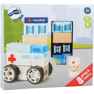 Ambulance Construction Set with Sound - Little Fawn Box - Subscription box for mum and baby