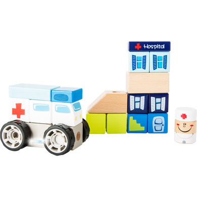 Ambulance Construction Set with Sound - Little Fawn Box