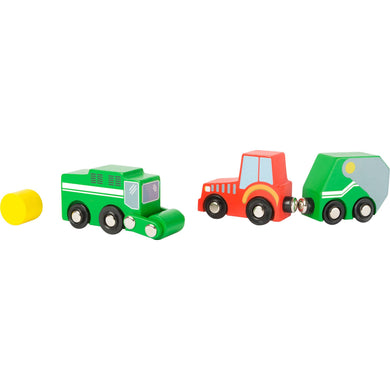 Farm Wooden Vehicle Set - Little Fawn Box - Subscription box for mum and baby