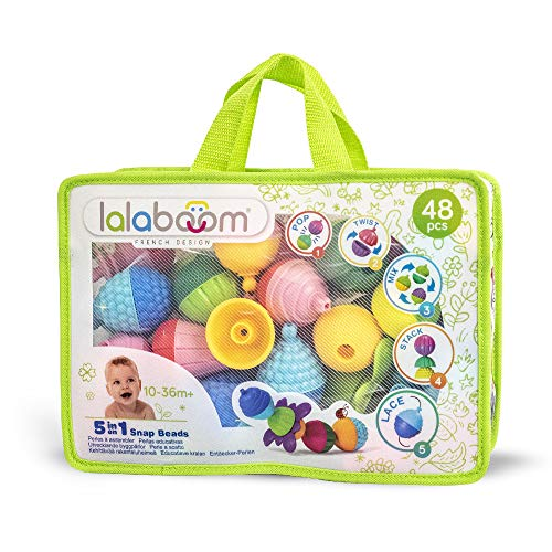Educational Beads - 48 Piece Zipped Bag | Lalaboom