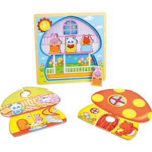 Mushroom House Layer Puzzle - Little Fawn Box - Subscription box for mum and baby