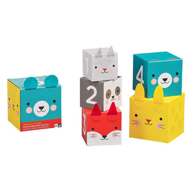 Petit Collage Touch & Feel Nesting Blocks - Little Fawn Box