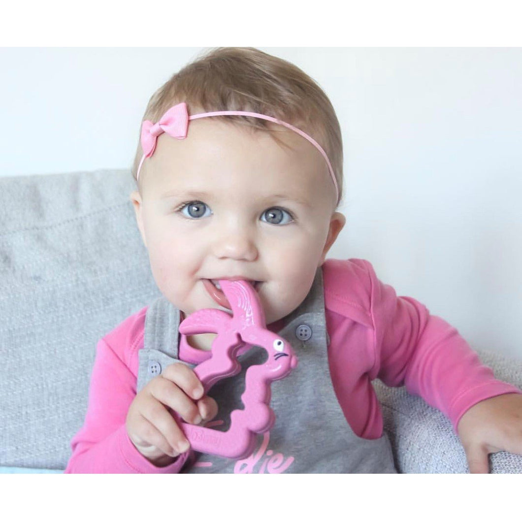 Belo Bunny Teething Toy (Pink, Mint & Grey) - Little Fawn Box - Subscription box for mum and baby