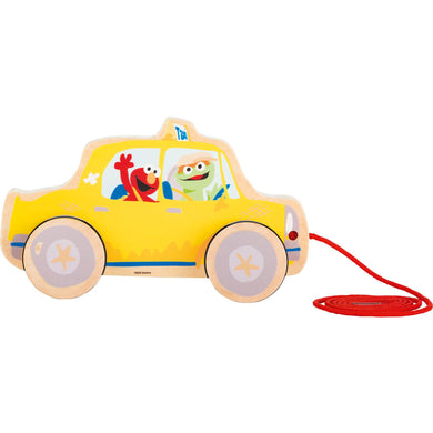 SESAME STREET Pull Along Taxi - Little Fawn Box
