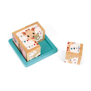 Sophie The Giraffe 4 Block Tray | Janod