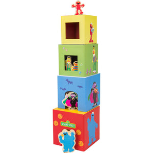 SESAME STREET Stacking Tower with Figurines - Little Fawn Box - Subscription box for mum and baby