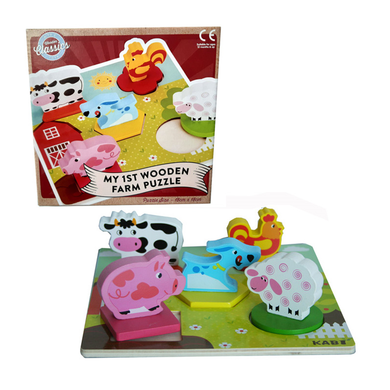 Wooden 3d Farm Puzzle - Little Fawn Box