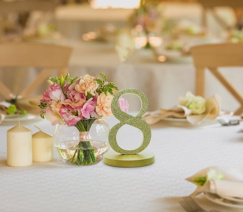 Gold Wedding Table Numbers | Cestash