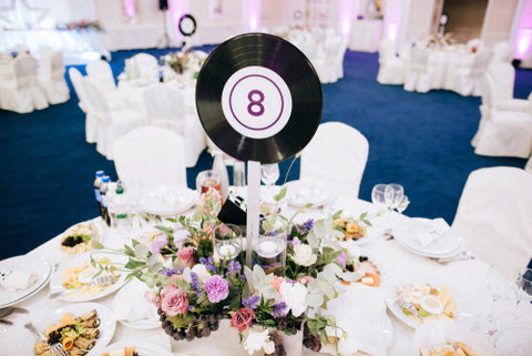 vintage-vinyl-record-wedding-table-number | Cestash