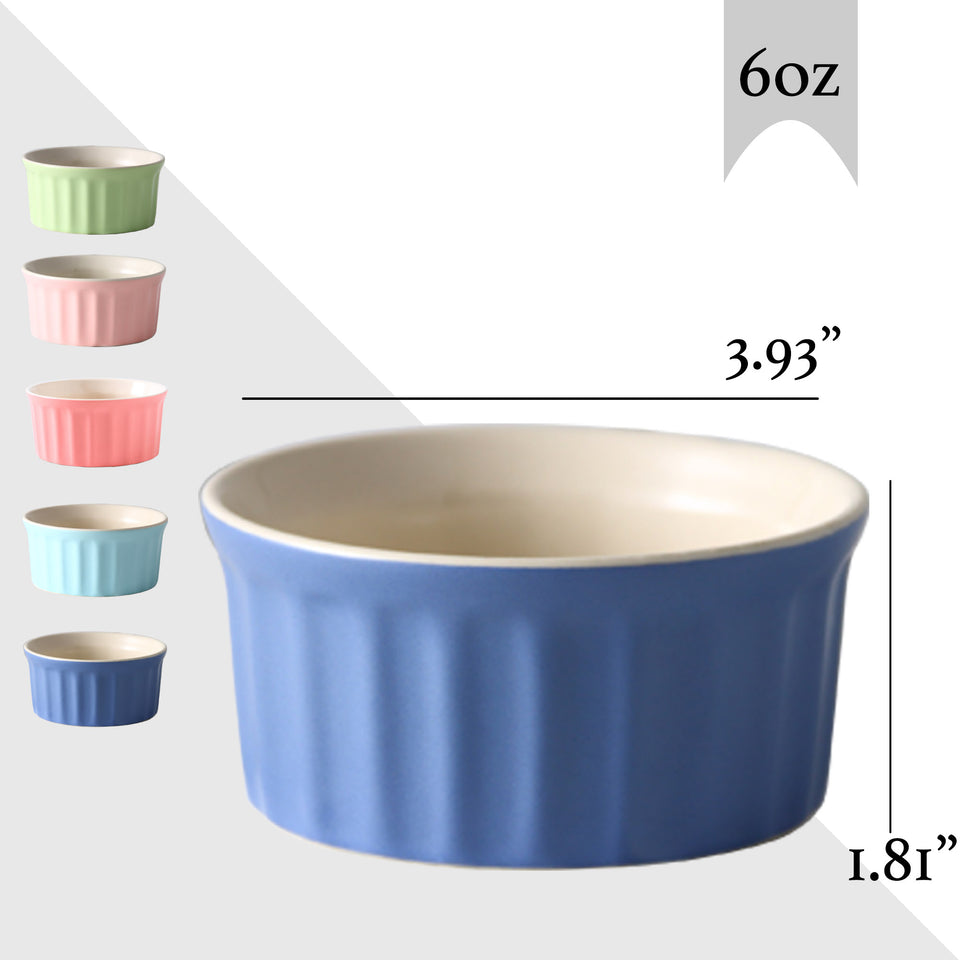 6 ounce souffle dishes