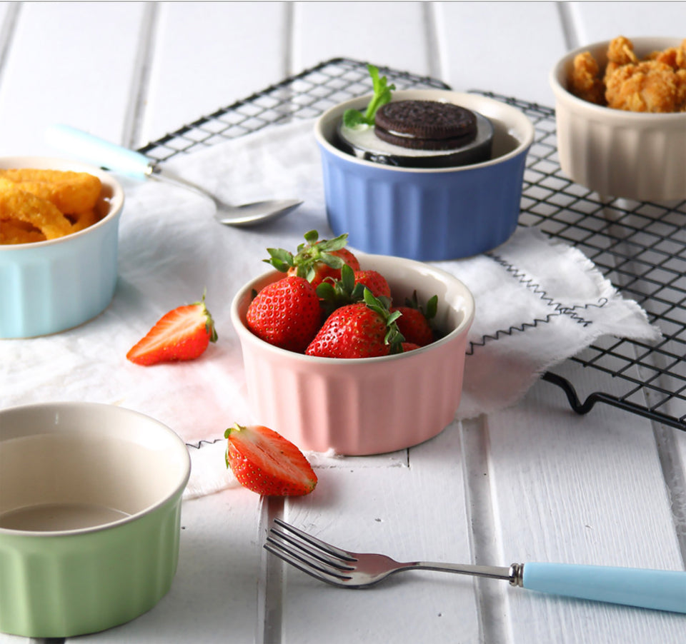 porcelain souffle dishes