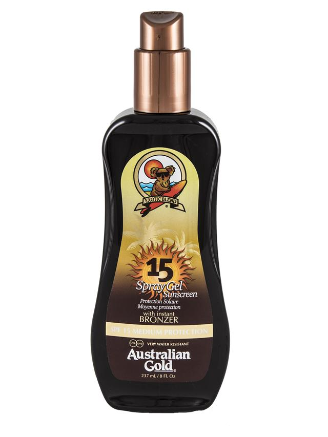 Australian Gold Spray Gel Sunscreen With Inst. Bronzer SPF15 237 ml - MIA PROFUMERIA