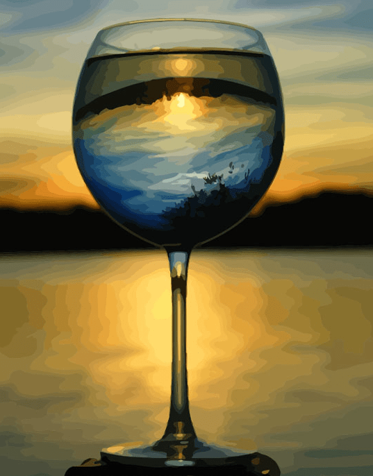 Wine Landscape Paint By Number Kit