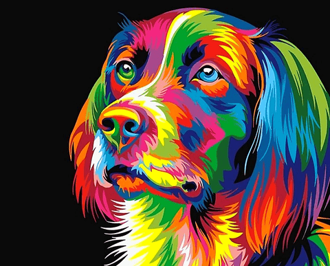 Abstract Dog Paint by Number Kit