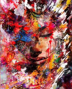 Paint by Numbers Kit Abstract Woman