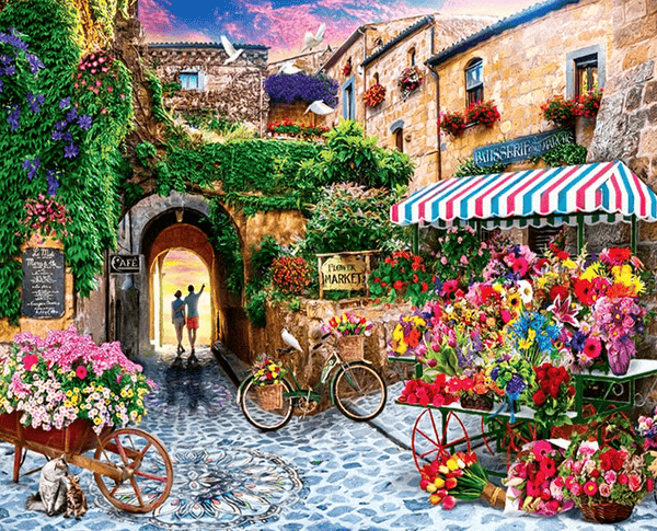 Flower Street Landscape Paint By Number Kit