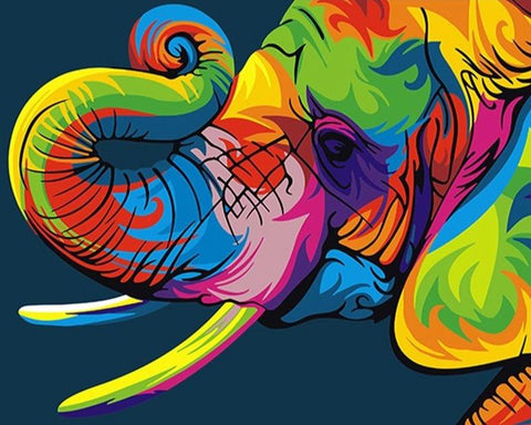 Abstract Colorful Elephant Paint By Number Kit
