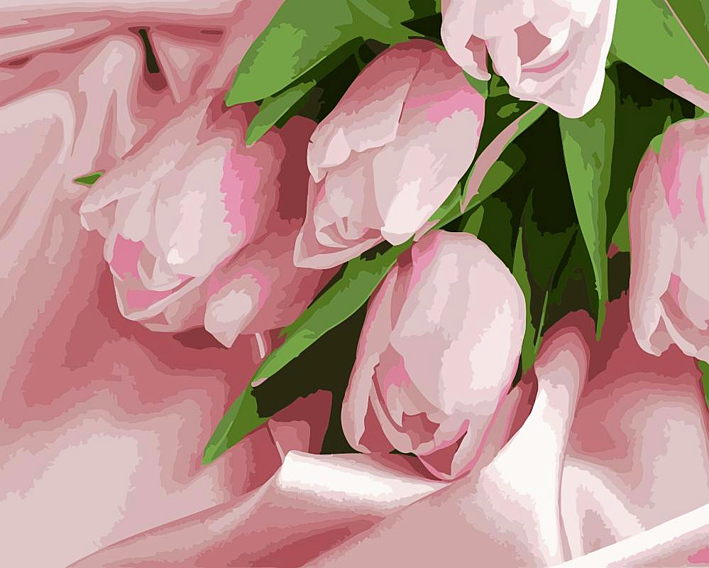 Paint by Numbers Kit Flower Tulip