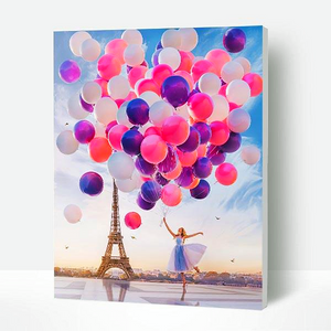 Paint By Numbers Kit Paris balloons