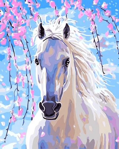 White Horse Paint By Number Kit