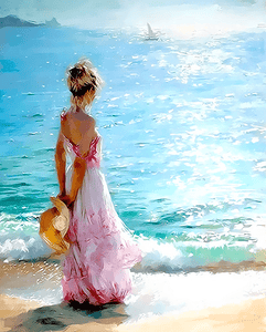 Paint by Number Kit Seaside Girl - Just Paint by Number